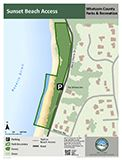 Sunset Beach Access map icon 122x160