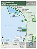 Birch Bay Beach & Tidelands Access map icon 160x124