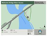 Welcome Bridge River Access map icon 160x124