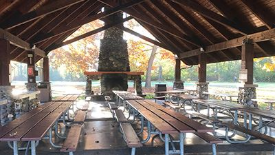 Hovander Group Picnic Shelter Interior