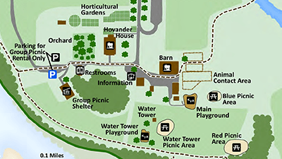 Hovander Picnic Areas Map Detail