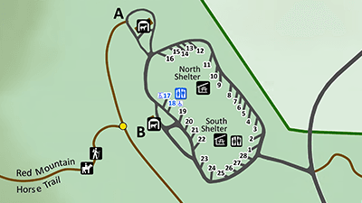 Red Mountain Campground Map Detail