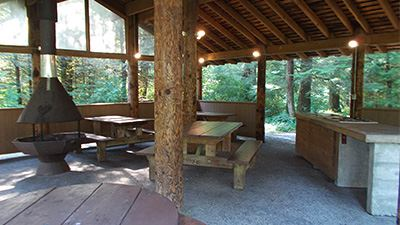 Silver Lake Red Mountain Picnic Shelter North Interior