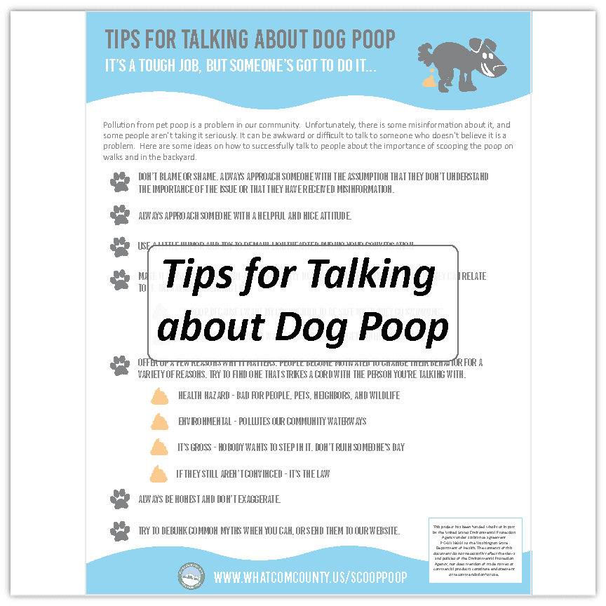 Tips for Talking about Dog Poop