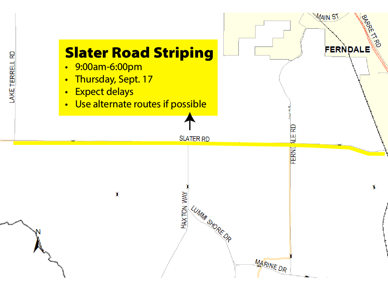 Slater Striping Map