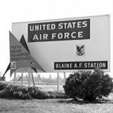 Blaine Air Force Station Sign