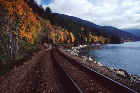 Teddy Bear Cove Park, Train rails and Chuckanut Bay